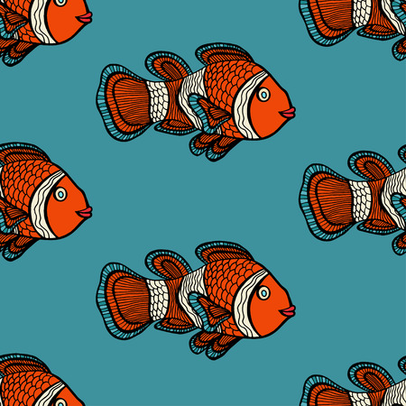 peces payaso: Anemonefish (payaso) azul modelo incons�til del vector Vectores