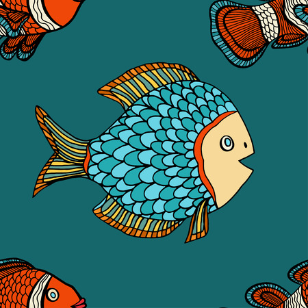 pez payaso: Anemonefish (payaso) azul modelo incons�til del vector Vectores