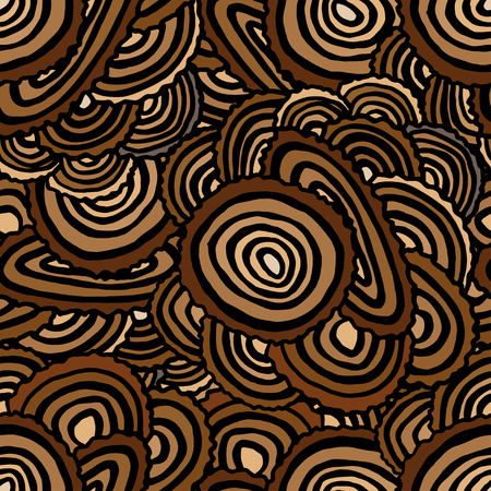 plywood: Seamless Pattern with Tree Rings. Vector background