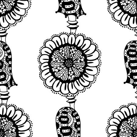 パターン大人 塗り絵ひまわり 柄 花 トライバル パターン Wwwgazoitcom