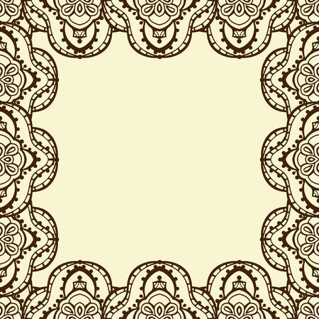 decorative frame: Decorative frame from abstract hand drawn elements. Vector illustration Illustration