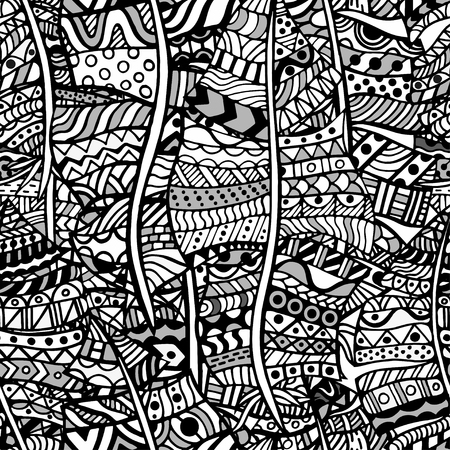 abstract doodle: Artistically ethnic pattern. Hand-drawn, ethnic, floral, retro, doodle, vector, design element. Pattern for coloring book.