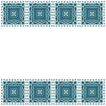 decorative frame: Blue Decorative frame from abstract hand drawn elements. Vector illustration Illustration