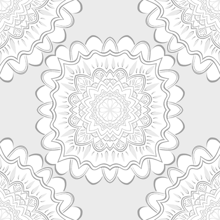 whorls: Decorative abstract floral pattern. Retro background. Vector illustration.