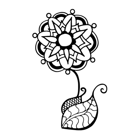 nulo: Hand Drawn Sketch of abstract flower. Vector Illustration