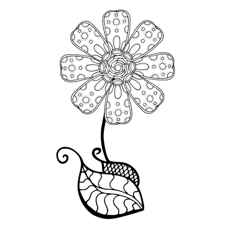 nonexistent: Hand Drawn Sketch of abstract flower. Vector Illustration