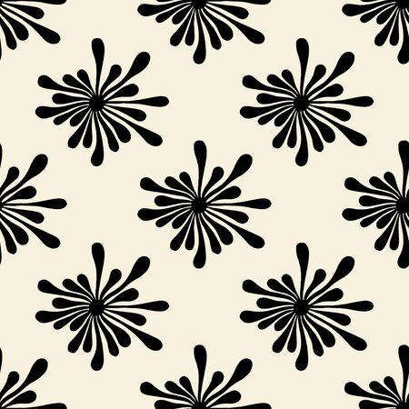 Vector seamless pattern with spots. Modern repeating texture. Fancy print with monochrome blotch Illustration