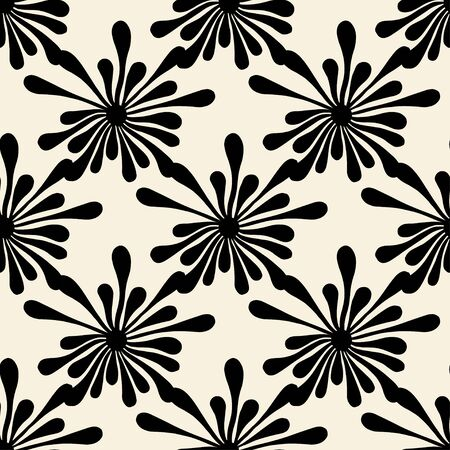 blotch: Vector seamless pattern with spots. Modern repeating texture. Fancy print with monochrome blotch Illustration