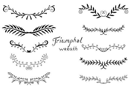 Vintage serie di alluminio disegnato a mano. Illustrazione dell'inchiostro. Grafico vettoriale floreale. Elementi di design della natura. Isolato su bianco.