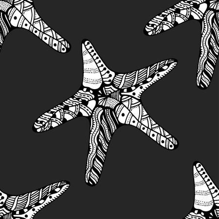 finger fish: Seamless background of Starfish.