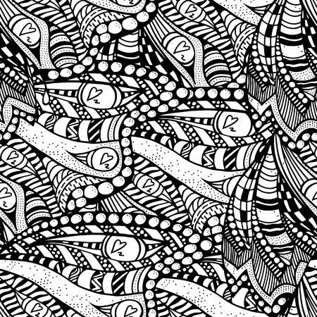 Seamless abstract hand-drawn pattern. Vector illustration Illustration