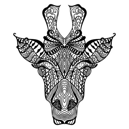Kleurplaten Voor Volwassenen Giraf.Fashion Paard Vrouw Kleurboek Voor Volwassenen Vector Illustratie