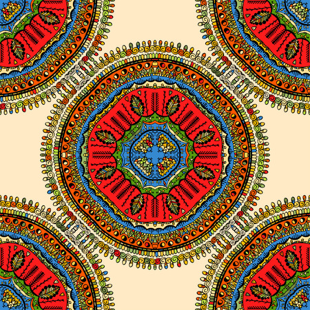 Seamless pattern. Vintage decorative elements. Hand drawn background. Islam, Arabic, Indian, ottoman motifs. 矢量图像