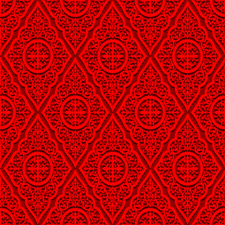 red wallpaper: Abstract red wallpaper. Seamless background for retro design Illustration