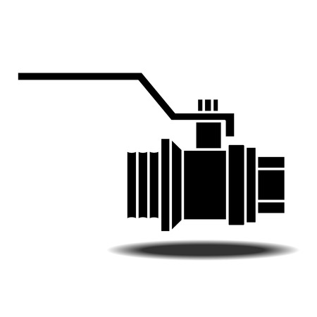 sanitary: Sanitary Ware tap with shadow. Flat vector icon on white background