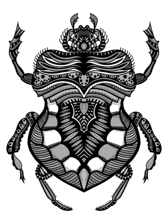 t shirt design: Hand drawn bug for coloring page,logo, t shirt design effect and tattoo