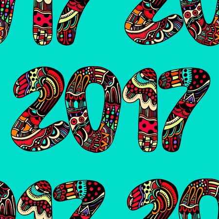 numbers background: hand drawn numbers, Happy New Year background