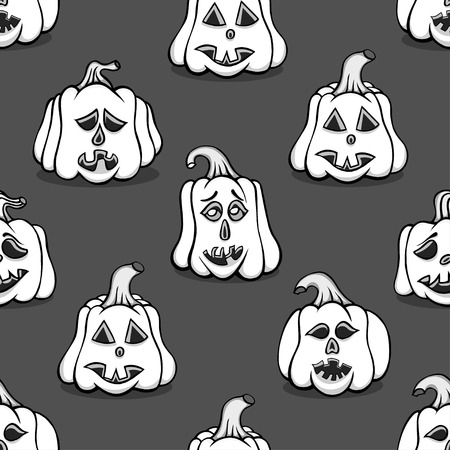 cute wallpaper: Monochrome Textured pumpkins seamless background. Vector illustration image