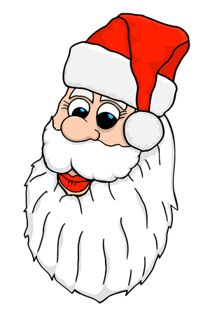 Santa Face. Vector illustration image Isolated on white Illustration