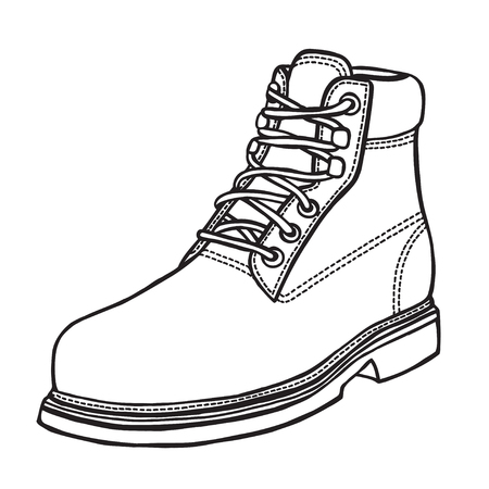 Shoe, hand-drawn in sketch style. Vector illustration of a shoe.