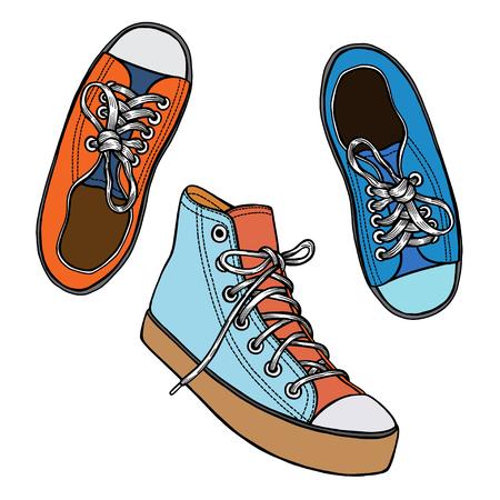 Sneaker shoes illustration.