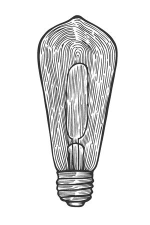 Electric light bulb -Vintage engraved illustration.