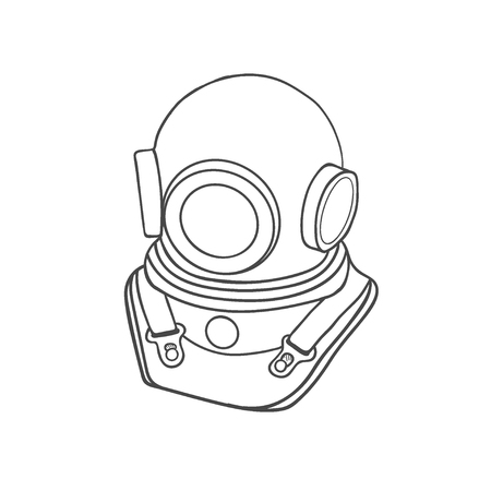 Scuba diving logo. Diver mask. Vector graphics to design.