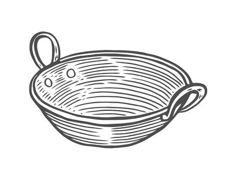 Tiefe Kupferplatte, im alten Stil Gravur, handgemalte Illustration Vektorgrafik