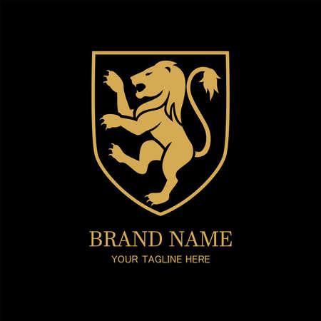 Royal lion design template