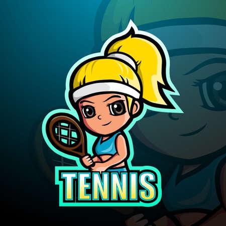 Tennis mascot esport logo design
