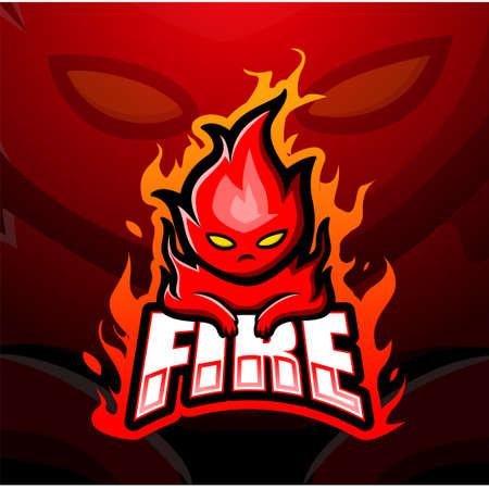 Fire mascot esport logo design