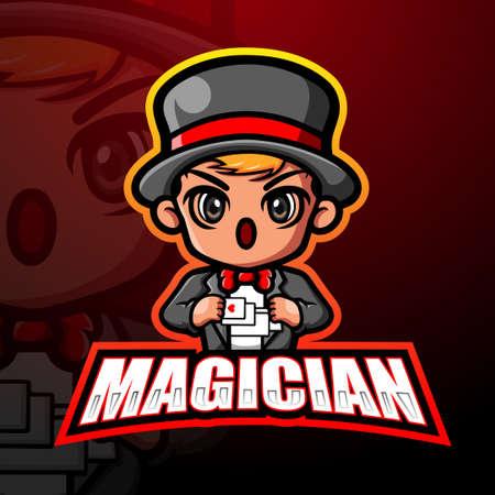 Magician mascot esport logo design