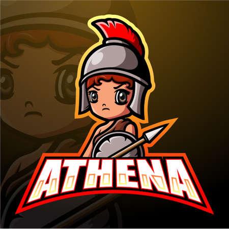 Athena mascot esport logo design