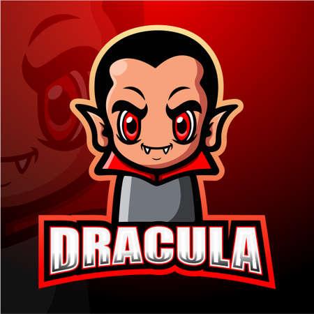 Vector illustration of Dracula mascot esport logo design