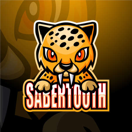 Vector illustration of mascot esport logo design