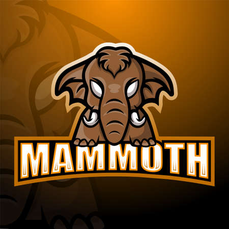Mammoth mascot esport logo design