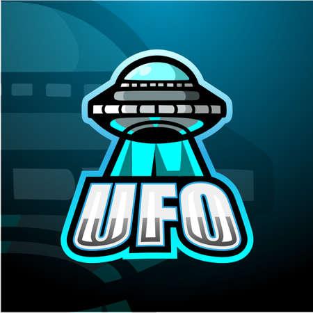 Ufo mascot esport logo design