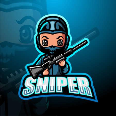 Sniper mascot esport logo design Logo