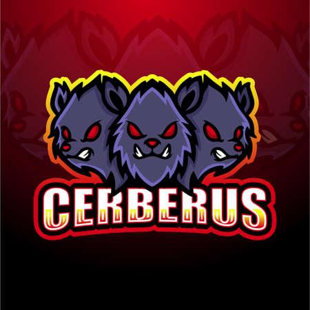 Vector illustration of Cerberus mascot esport logo design