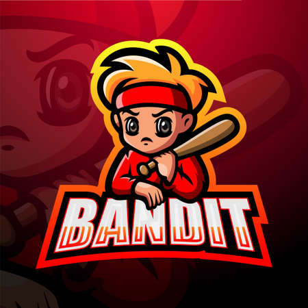 Vector illustration of Bandit mascot esport logo design