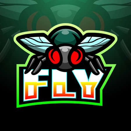 Vector illustration of Fly mascot esport logo design