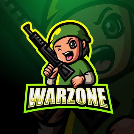 Vector illustration of Warzone mascot esport design