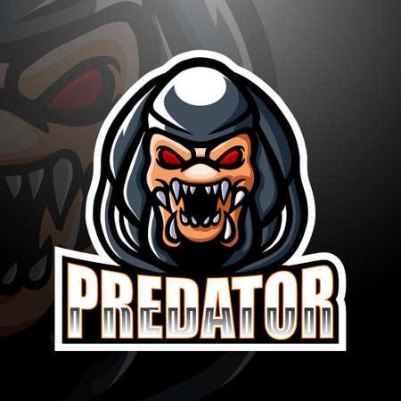 Predator Mascot esport logo design