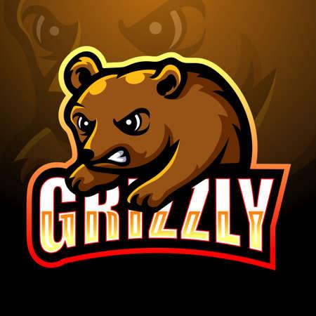 Bear mascot esport logo design