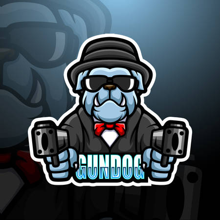 Vector illustration of Bulldog mafia mascot esport logo design Illustration