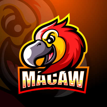 Vector illustration of Macaw mascot esport logo design 矢量图像