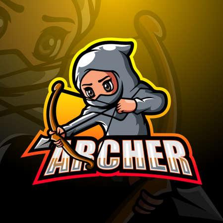 Vector illustration of Archer mascot esport logo design