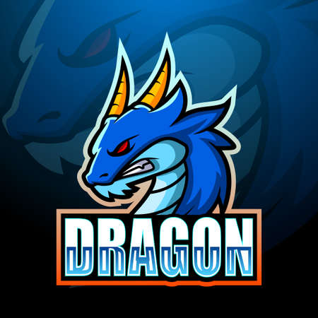 Vector illustration of Dragon mascot esport logo design 写真素材 - 149560962