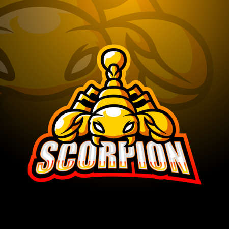 Vector illustration of Scorpion mascot esport logo design