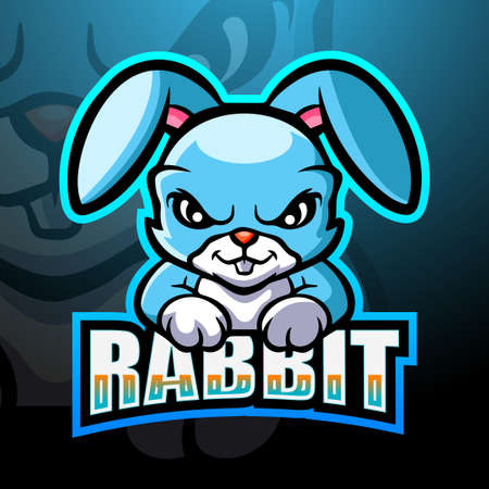 Vector illustration of Rabbit mascot esport logo design